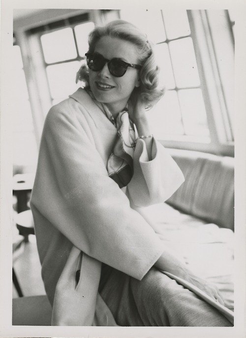 Grace Kelly on the SS Constitution.