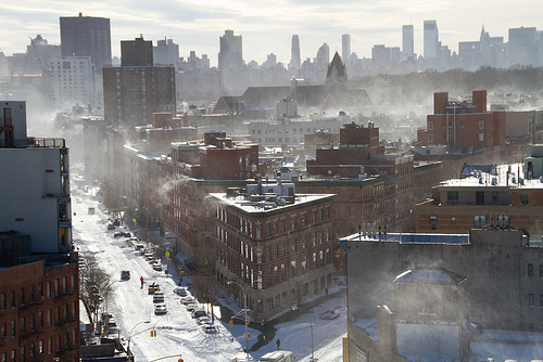 Winter in Brooklyn.