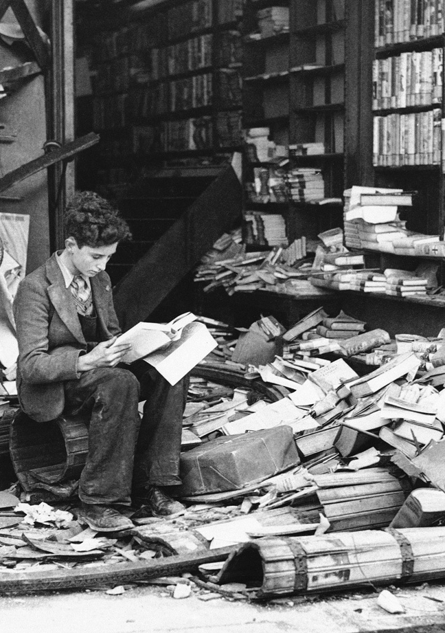 Bookstore, London, 8 October 1940.