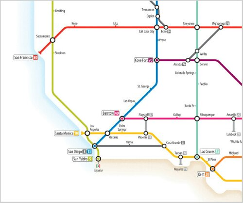 US Highway System as subway map – a technology job is no excuse