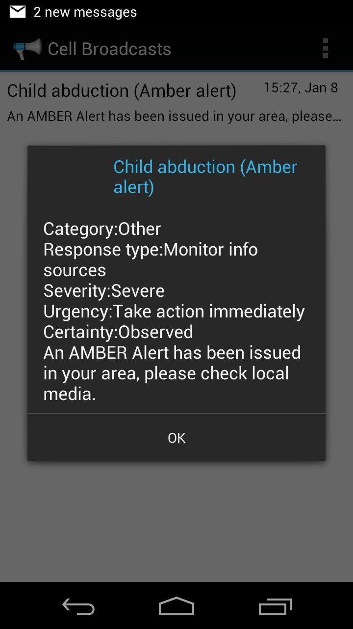 Amber Alert.