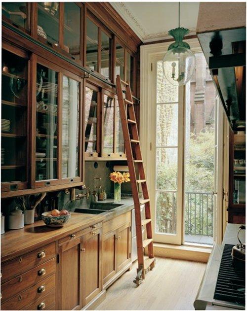 Library ladder.