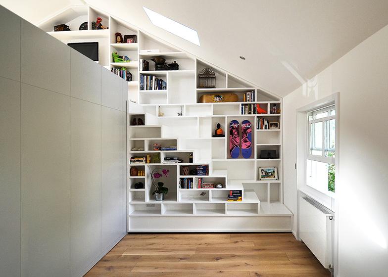Clever bedroom storage.