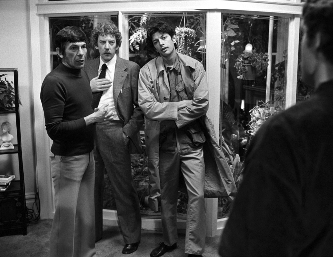 Nimoy, Sutherland, and Goldblum