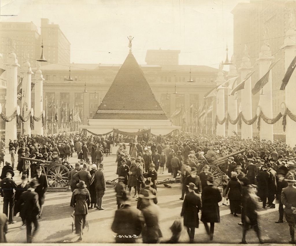 Pyramid of German Helmets