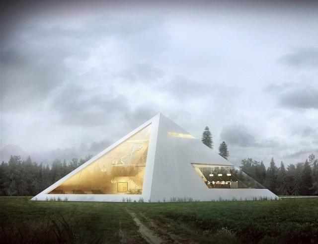Pyramid House.