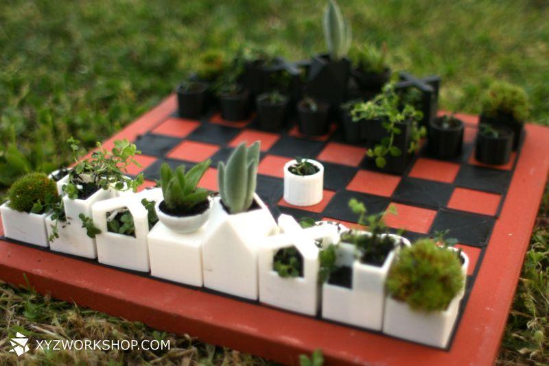 Bauhaus Chess Planters.