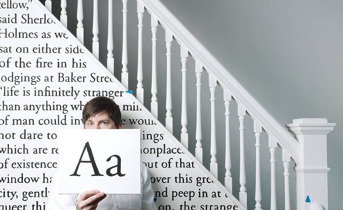 Typographic staircase.