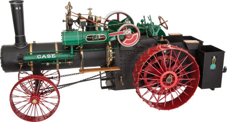 Steam tractor.