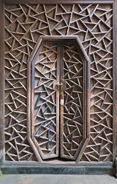 Tessellated Wood Door