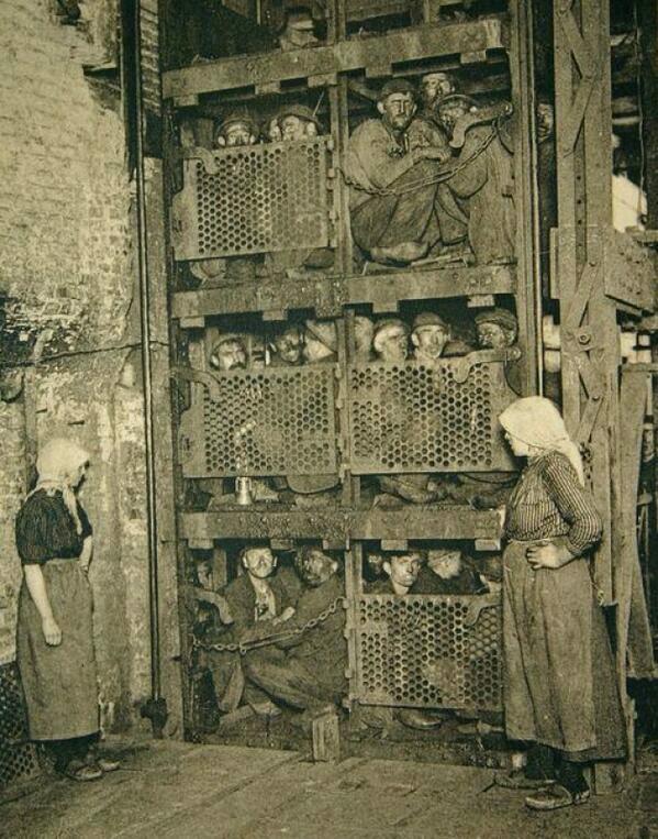 Belgian coal miners.