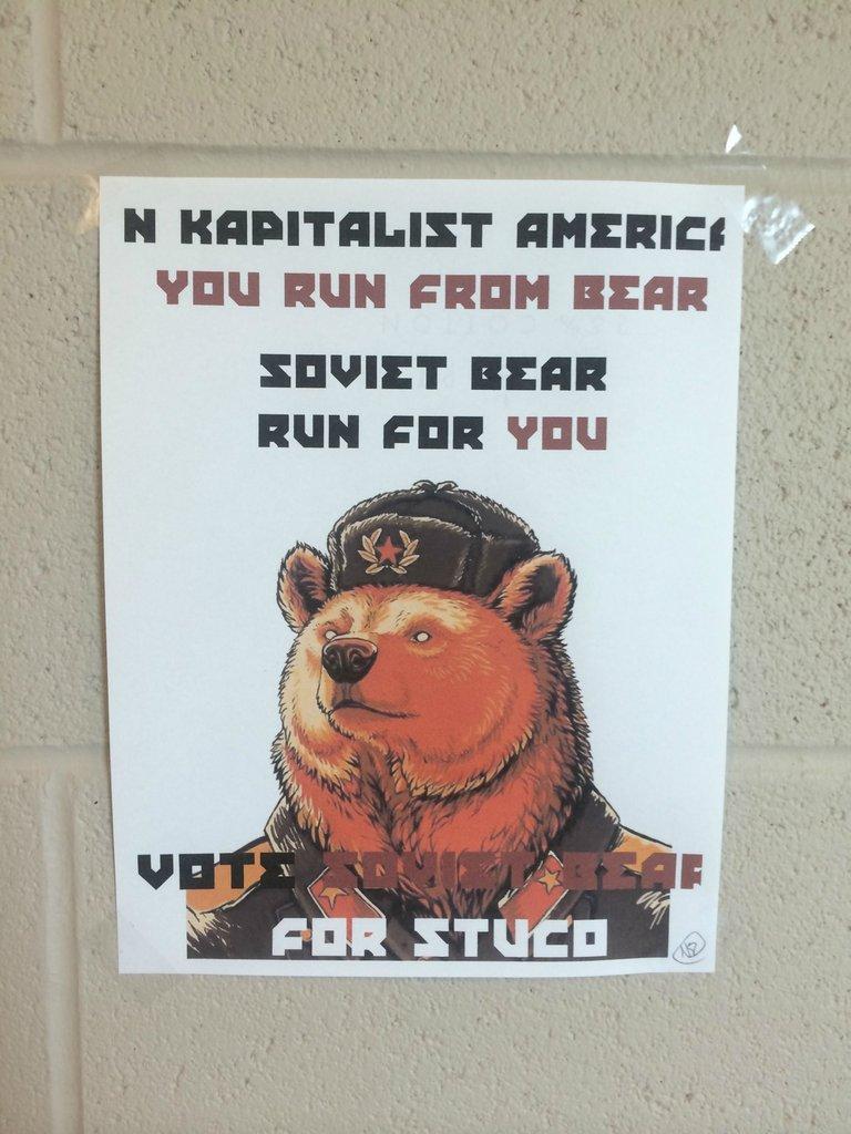 Soviet Bear for Class President.