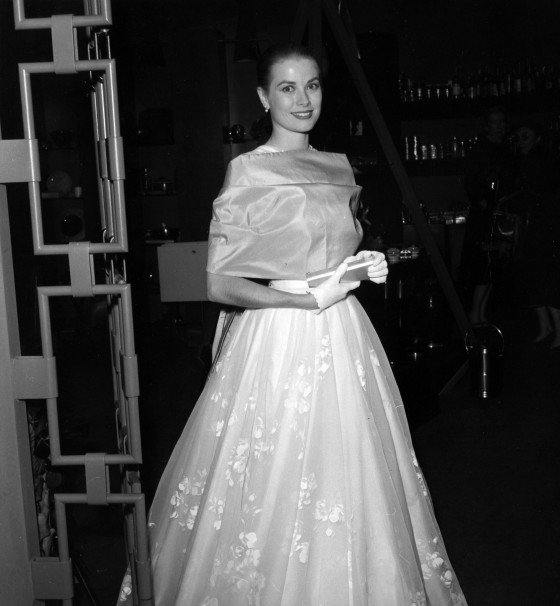 The Lady attends the 1956 Oscars.