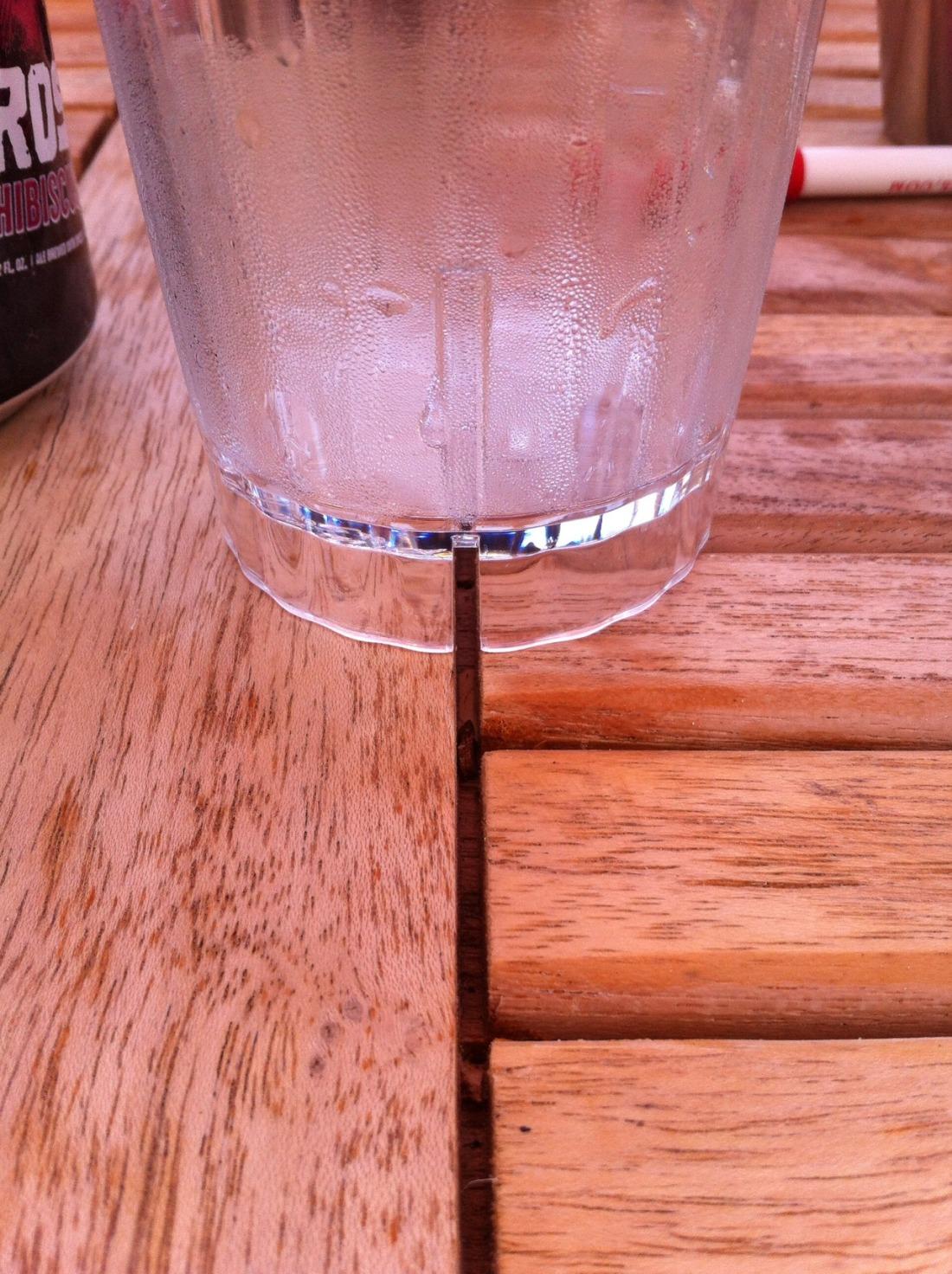 table gap + cup gap
