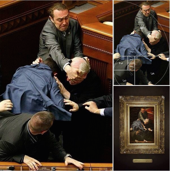 Ukraine Parliament and the Golden Ratio