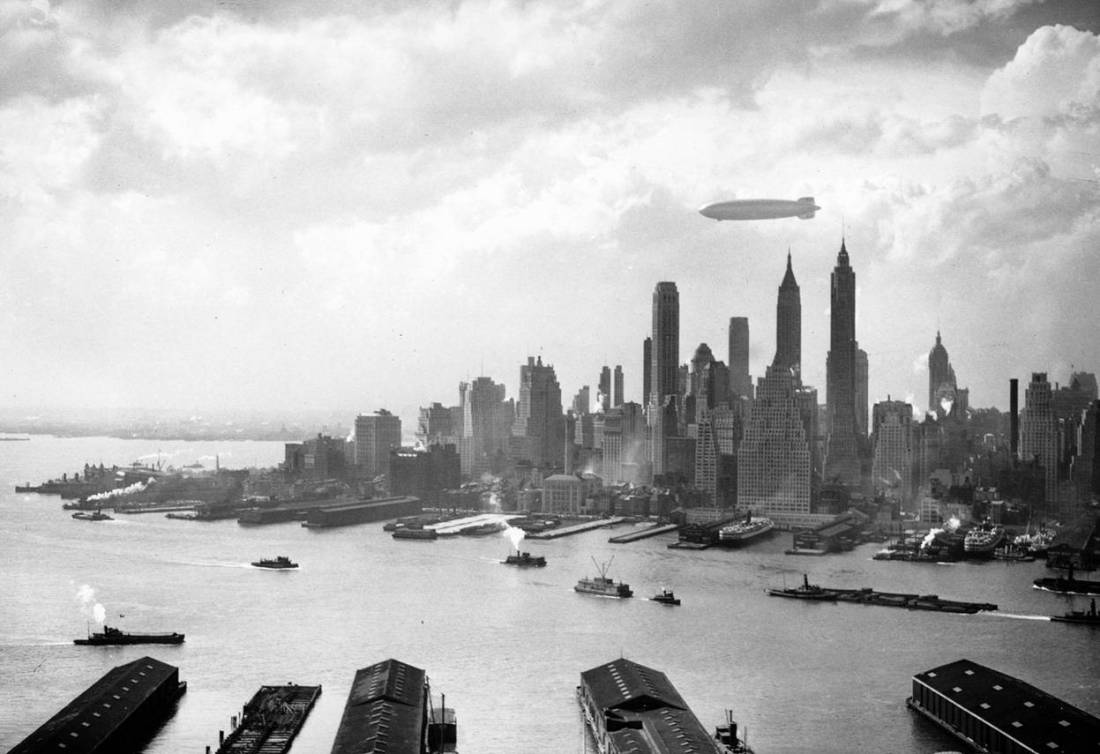 Zeppelin over NYC.