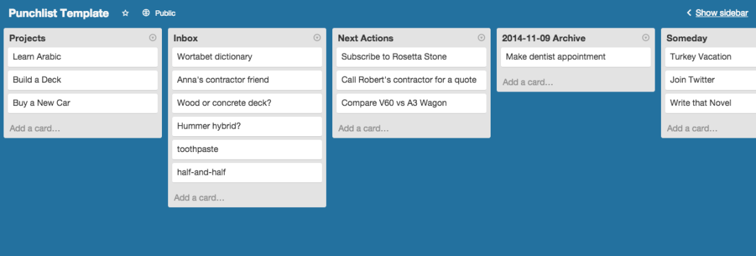 Whole Trello Board